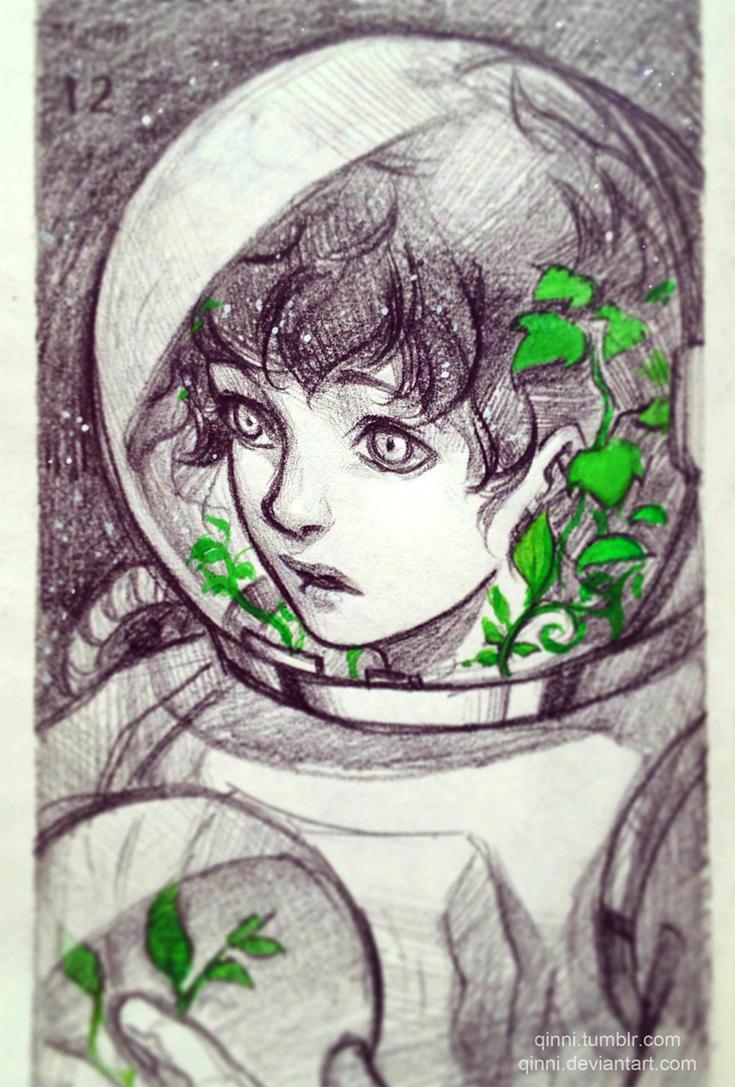 astronaut by qinni on deviantart