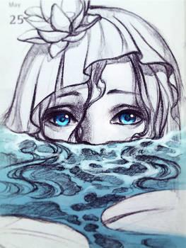 Mermaid in the pond