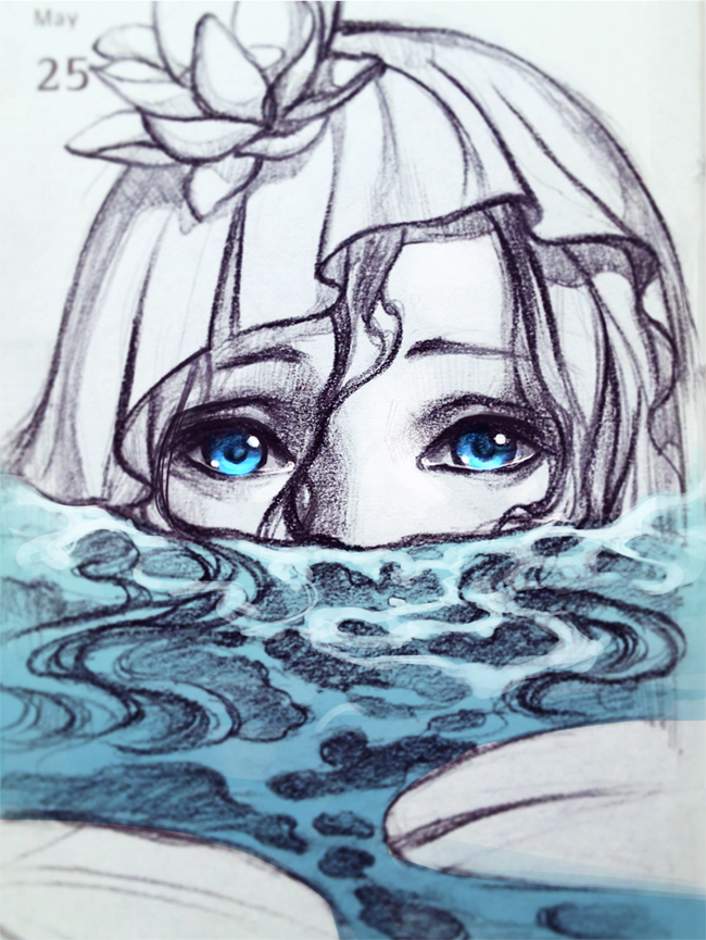 Mermaid In The Pond By Qinni On DeviantArt