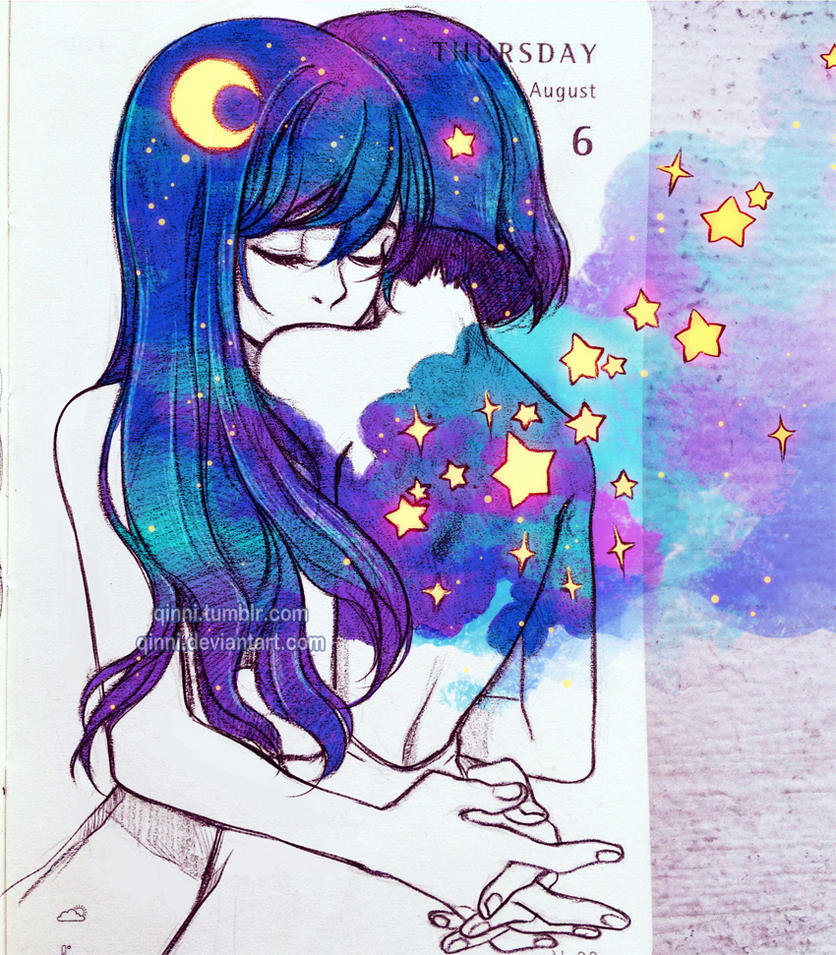 The moon whispers to star by qinni on deviantart