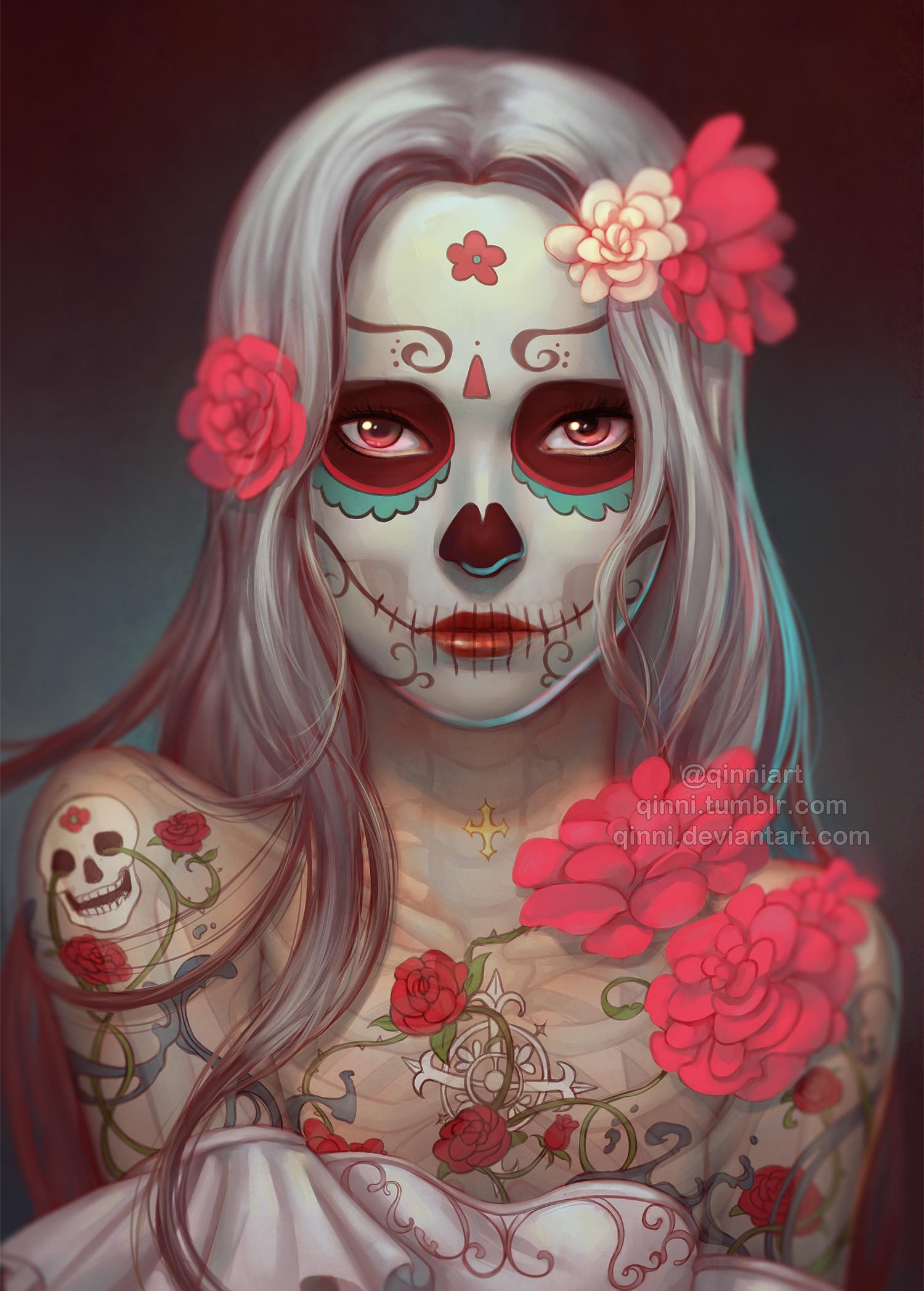 dia de los muertos by qinni on deviantart