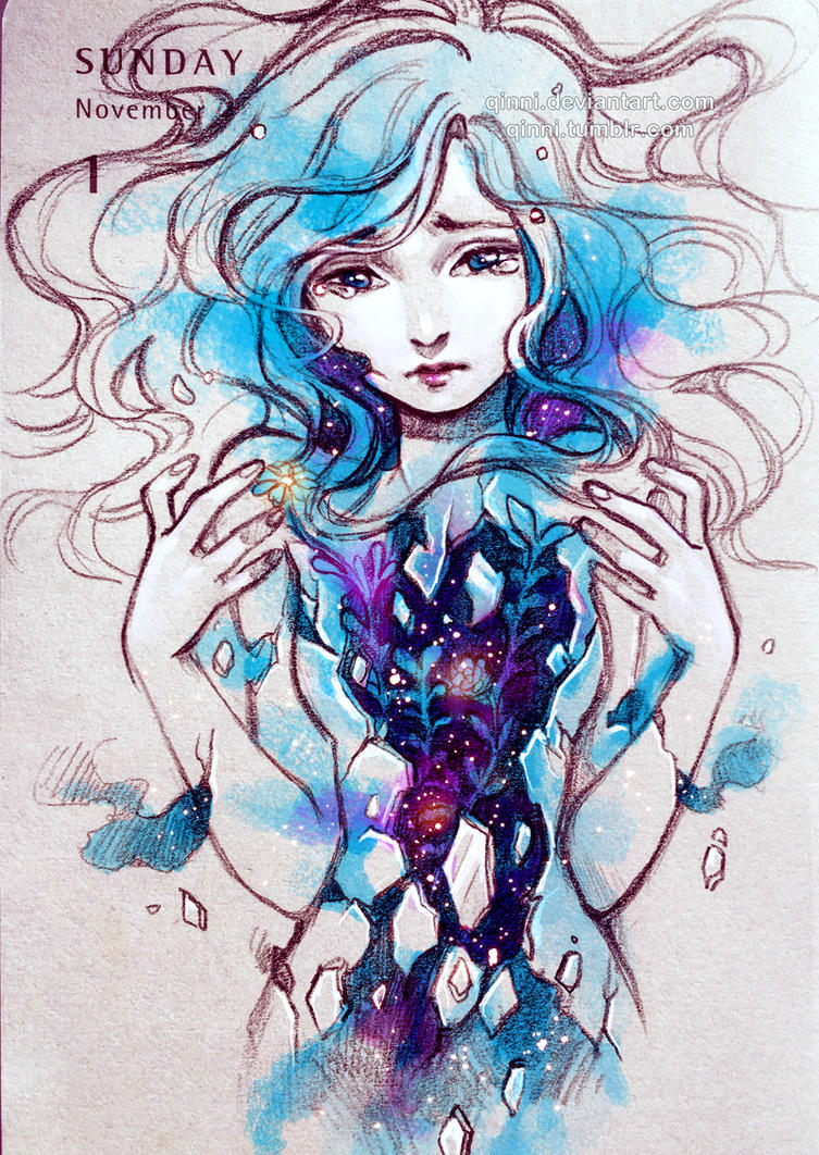 Book Cover Watercolor Hair : Breaking by qinni on deviantart