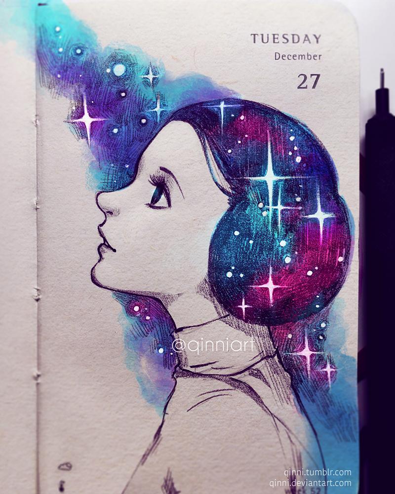 Faraway Galaxy by Qinni