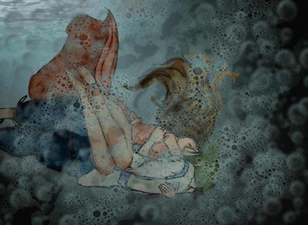 Underwater kiss-Reuinion by Toonwalla