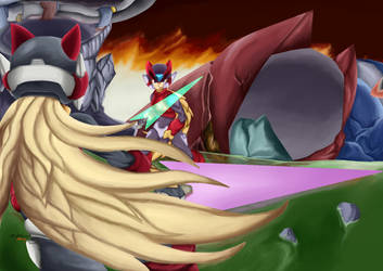 Omega vs Zero Confrontation of identities by OnlyDarknessburning