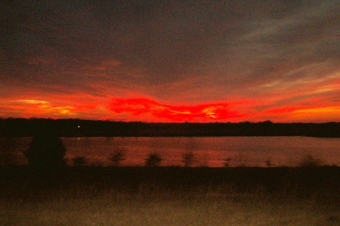 Sunset from the roadside by lovely-little-freak