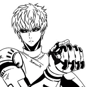 One Punch Man - Genos Line art