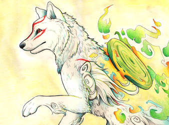 Okami Watercolour by fuzzbuzz