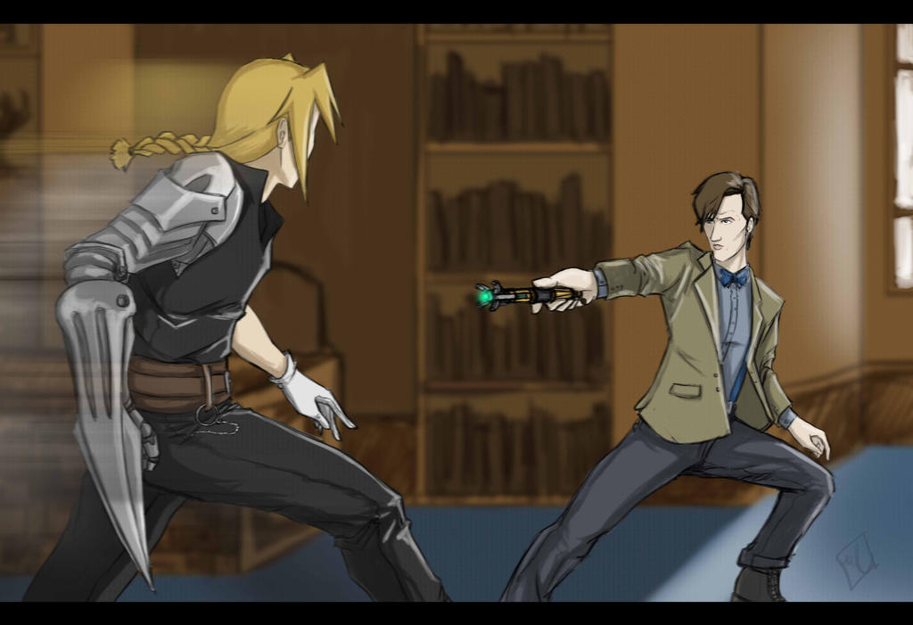 comm. Dr.who vs Ed Elric by OrangeBox01