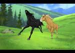 Strider and Esperanza run