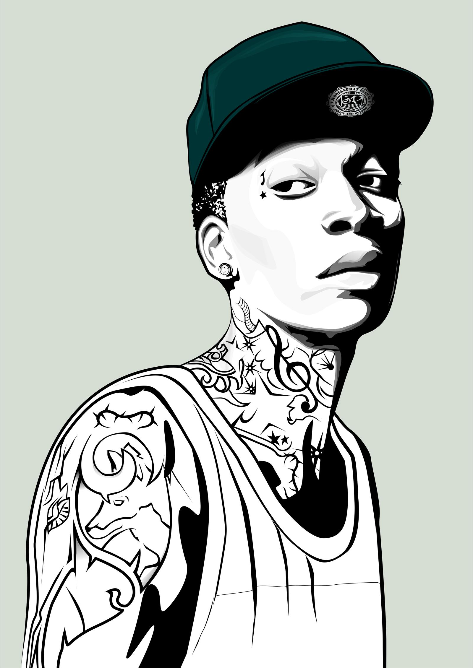 wiz Khalifa by matim01 on DeviantArt