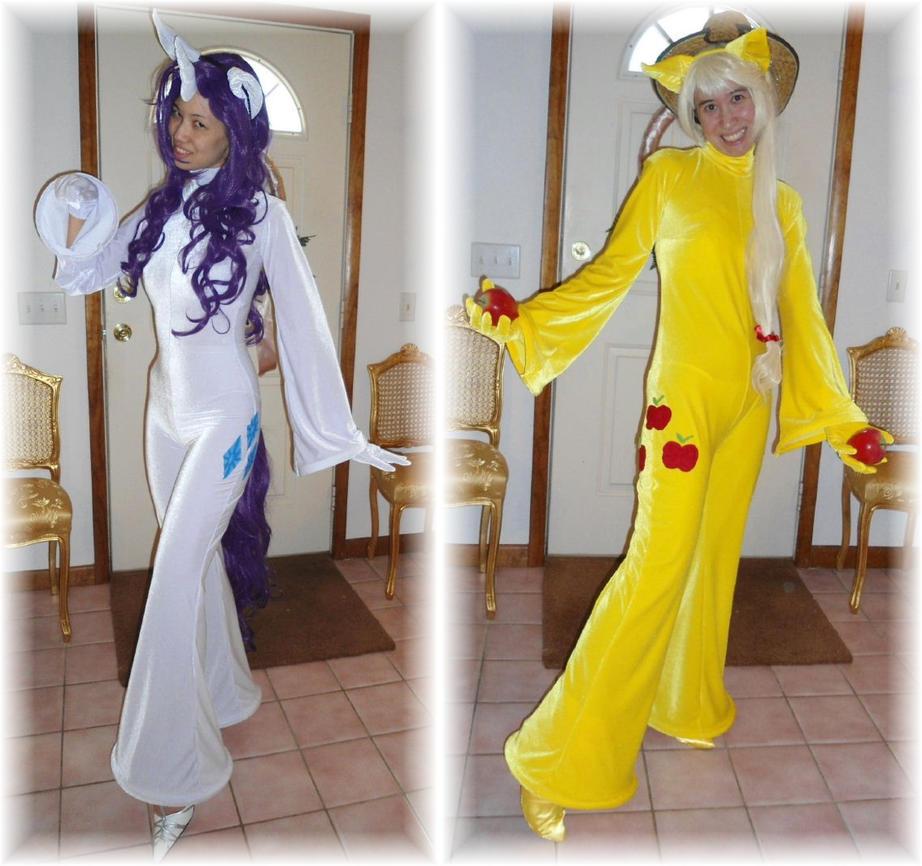 Rarity + Applejack Cosplay Costumes by SetsunaKou