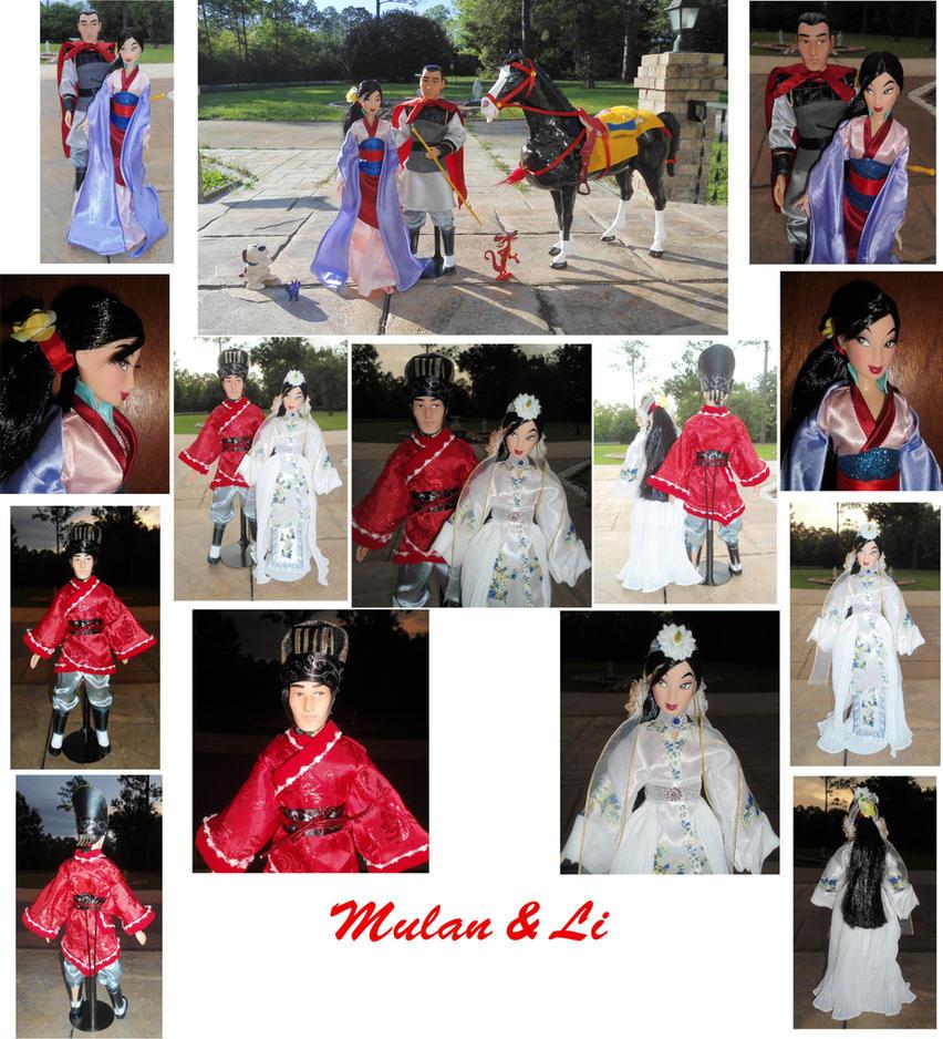 Mulan x Shang Li 1/6 Custom OOAK Dolls + Wedding by SetsunaKou