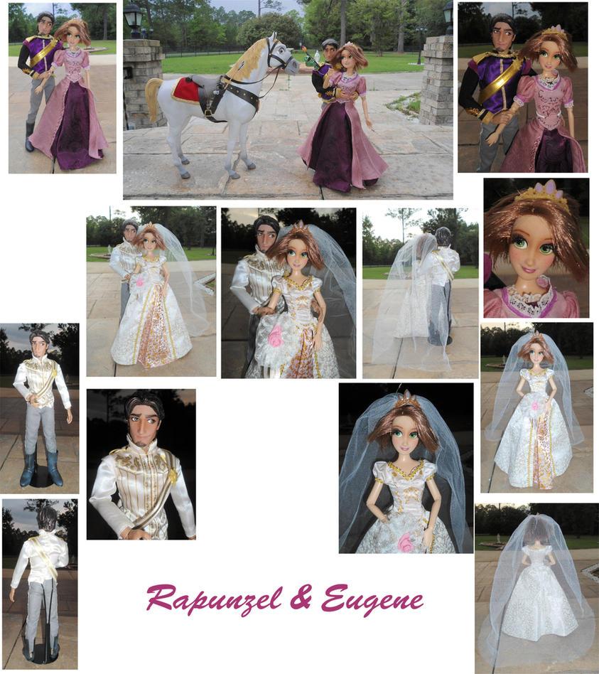 Rapunzel x Eugene 1/6 Custom OOAK Dolls + Wedding by SetsunaKou