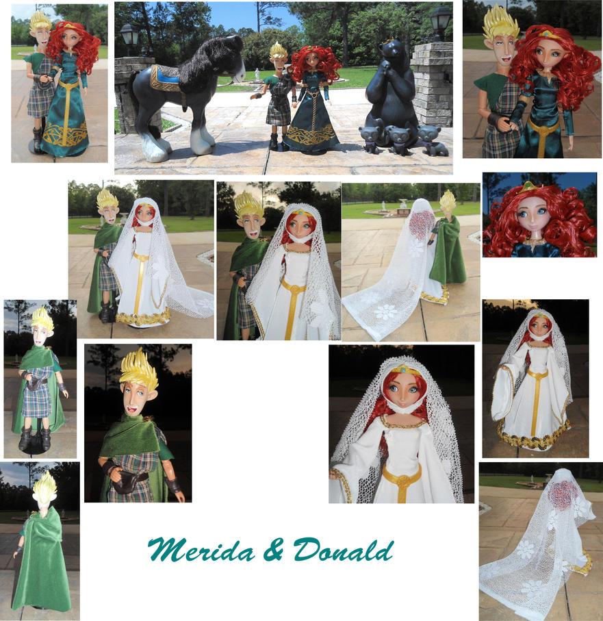 Merida x Donald 1/6 OOAK Dolls + Wedding Meriwall by SetsunaKou