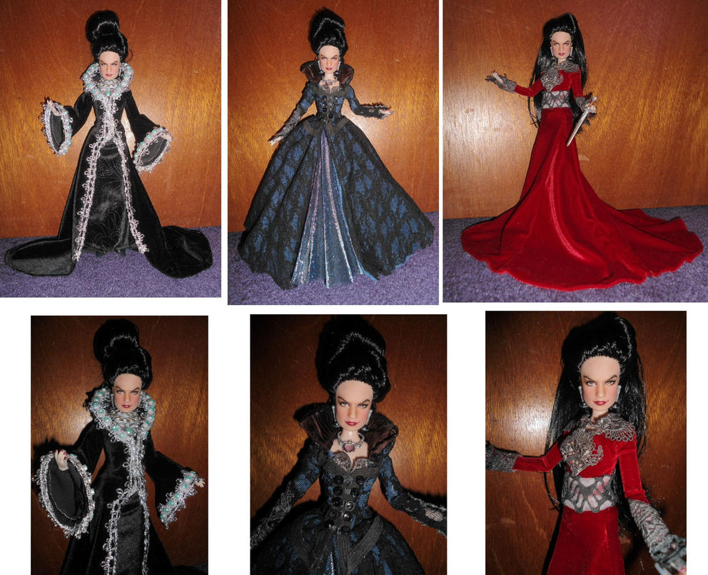 Evil Queen Regina Mills OOAK Doll Once Upon a Time by SetsunaKou