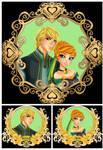 Frozen - Kristoff + Anna - Anime Style Kristanna