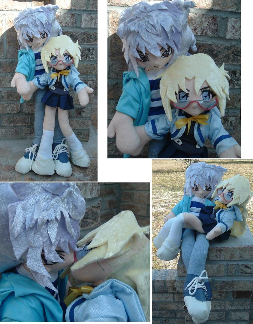 Ryou x Rebecca Plush Dolls by SetsunaKou