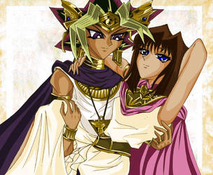 Pharaoh Atem x Queen Teana by SetsunaKou