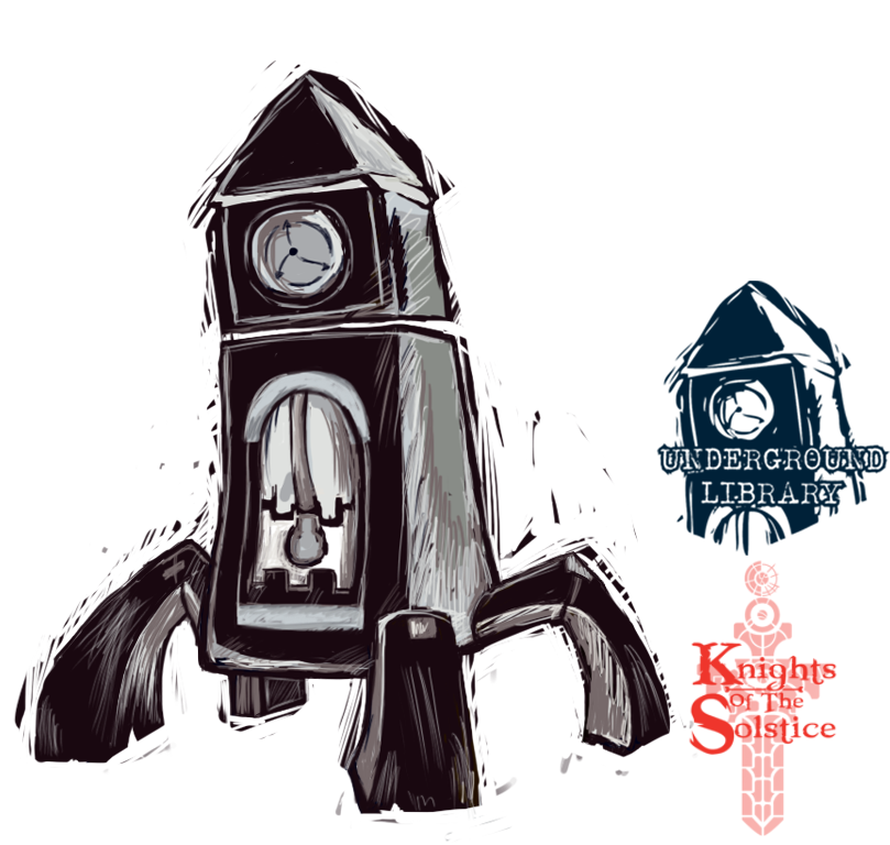 Paint Sketch 2 - KOTS The Clock by 347STUDIOS
