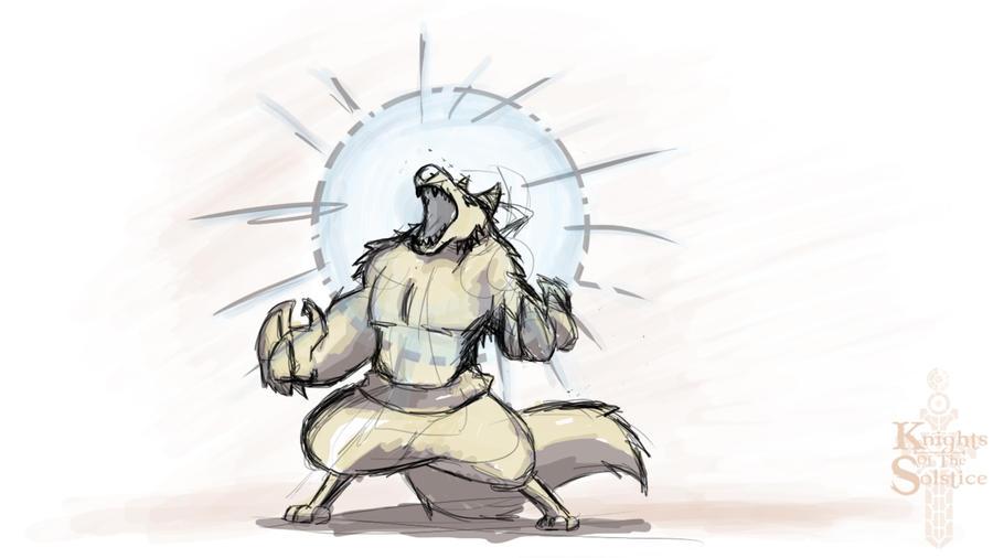 Paint Sketch 4 - Werewolf by 347STUDIOS