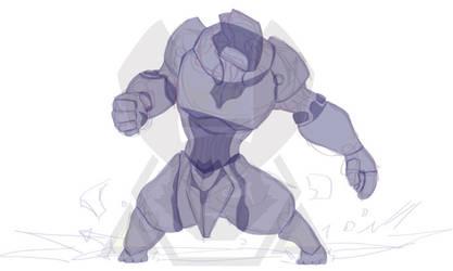 Vector Sketch - Warframe Rhino Wip by 347STUDIOS
