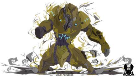Vector Sketch 45 - Warframe Rhino by 347STUDIOS