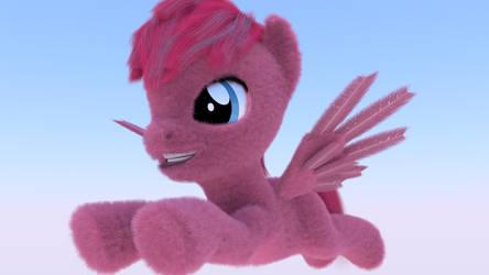 Puffy Pink Pegasus Pony {Rainbow}