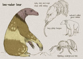 Bee-Eater Bear rough sketch by Viergacht