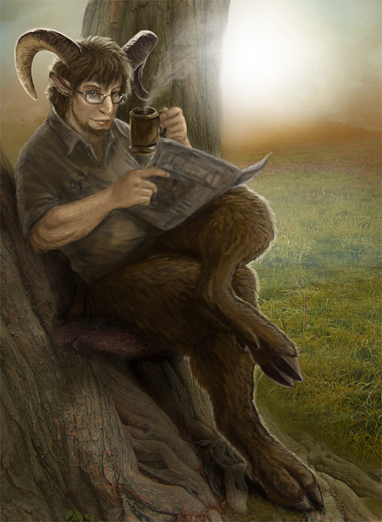 Sheepish Satyr by Viergacht