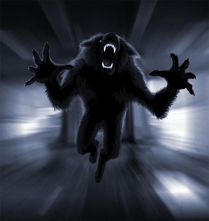 The Werewolf Café / Viergacht draws monsters