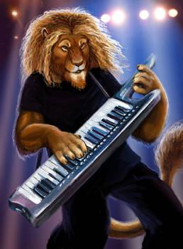 Lion on the Keytar