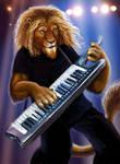 Lion on the Keytar by Viergacht
