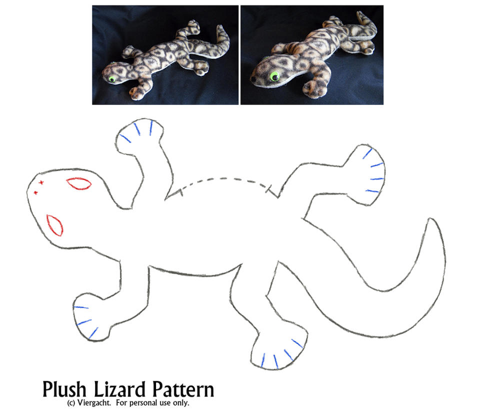 Plush Lizard Pattern by Viergacht