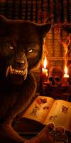 Werewolf Bookmark by Viergacht