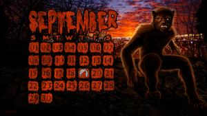 Werewolf Desktop Wallpaper Calendar Sept. 2013