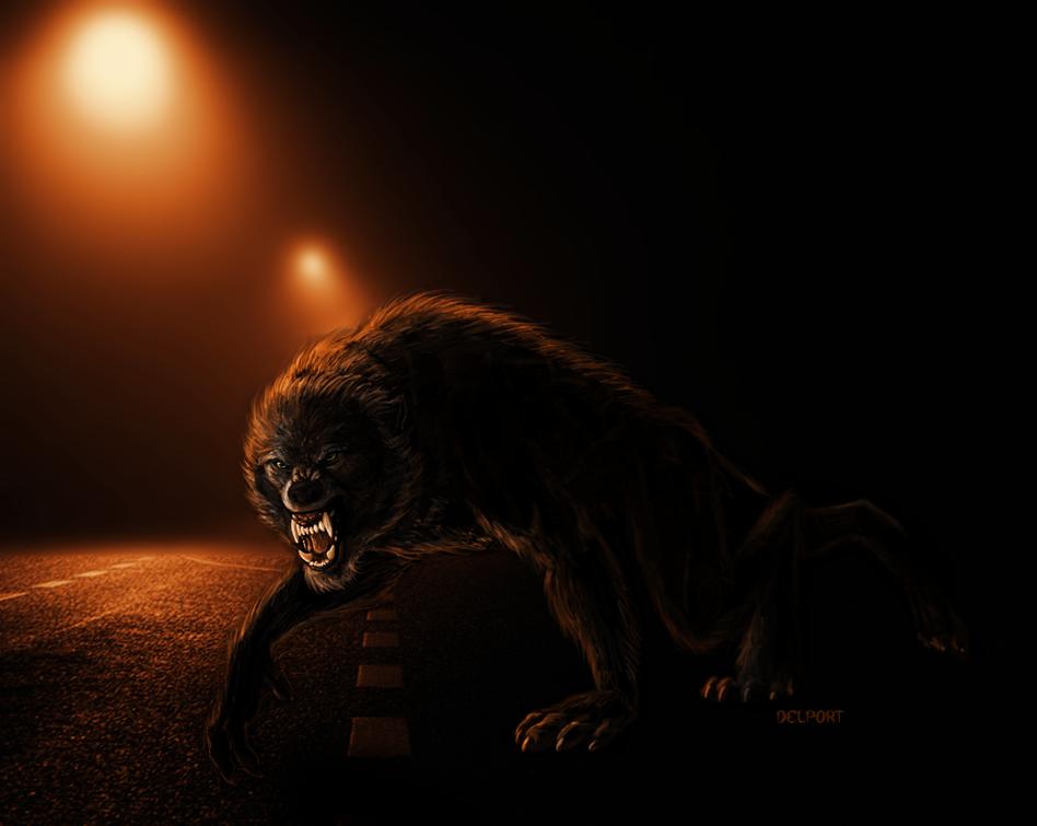 Draw a Werewolf Day - Road Rage by Viergacht