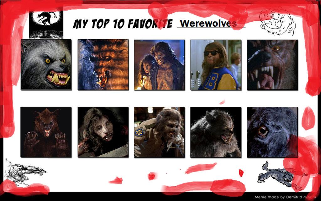 Top 10 Favorite Werewolves by Viergacht on DeviantArt
