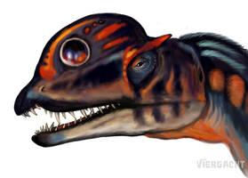 Dinovember - Dilophosaurus speedpaint by Viergacht