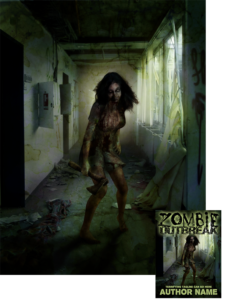 Book Cover Art For Sale : Zombie book cover design for sale by viergacht on deviantart