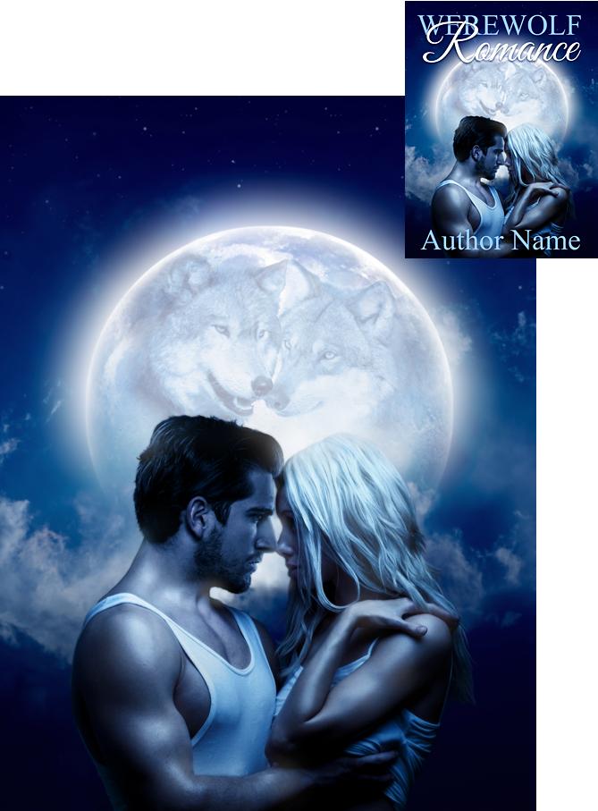 Romance Novel Book Cover Designers : Werewolf romance book cover blue mood by viergacht on