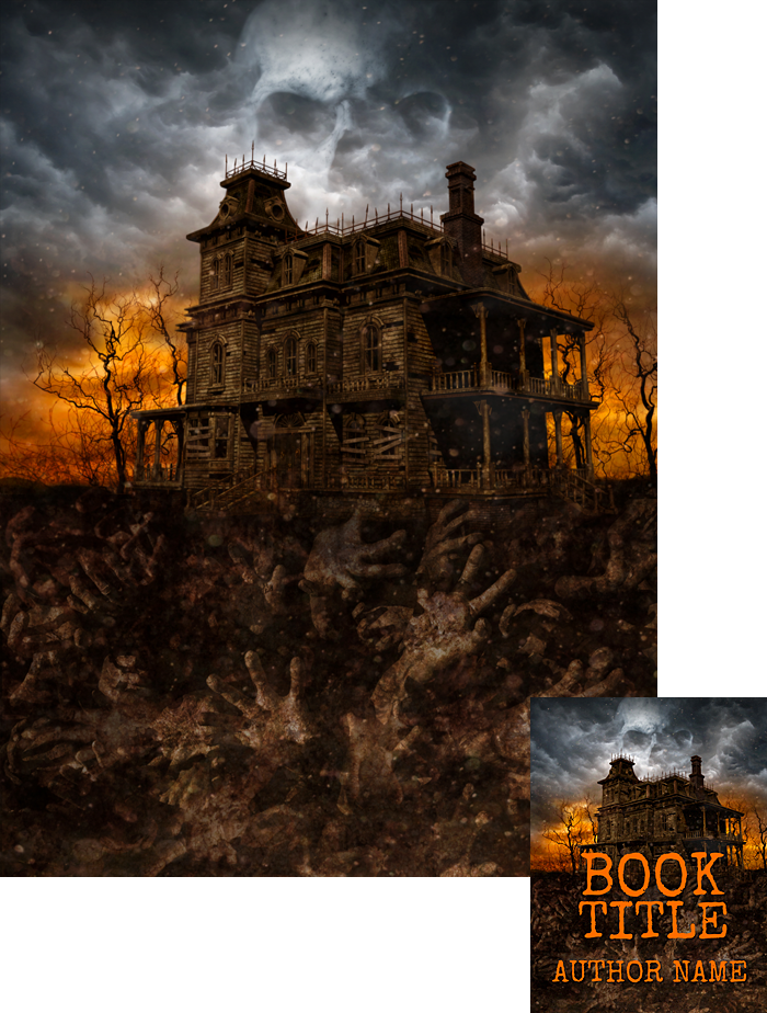 Premade Book Cover Art : Spookhouse premade book cover by viergacht on deviantart
