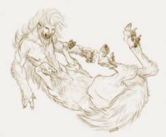 Were-cen-wolf-taur by Viergacht