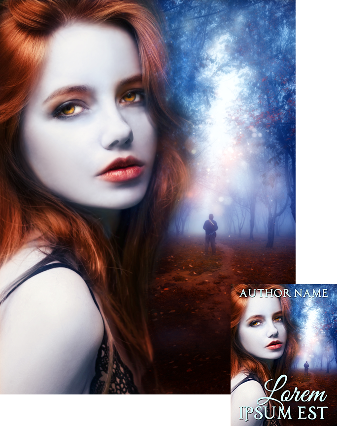 Vampire Book Cover Art ~ Autumn is vampire weather premade book cover by viergacht