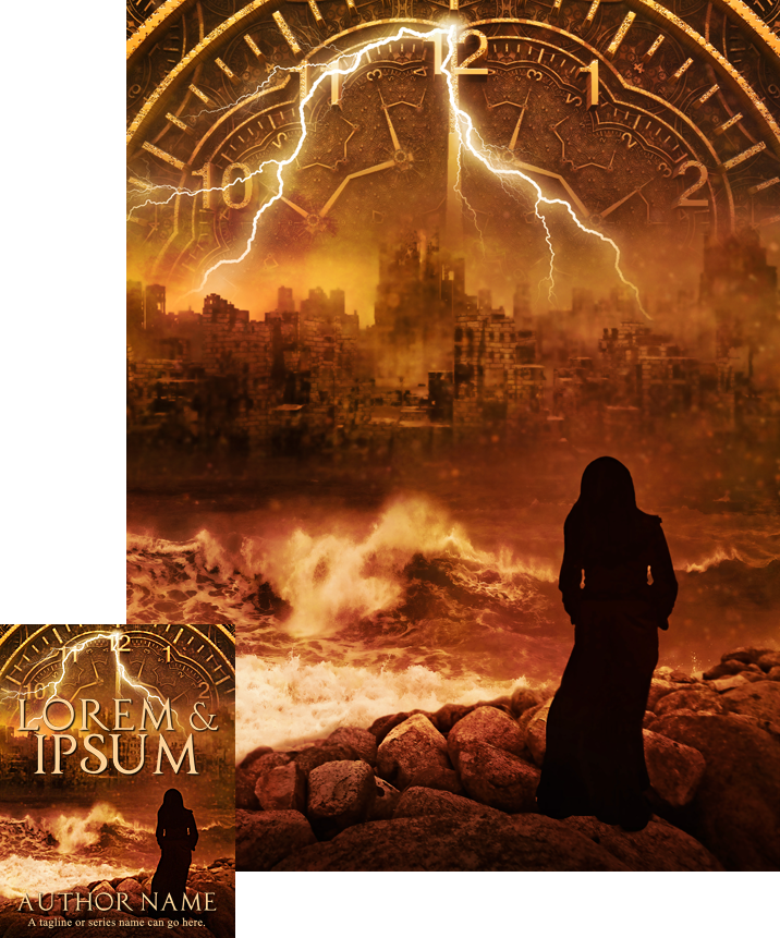 Premade Book Cover Art : Time city premade book cover by viergacht on deviantart