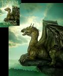 Mountain King Dragon Premade Book Cover