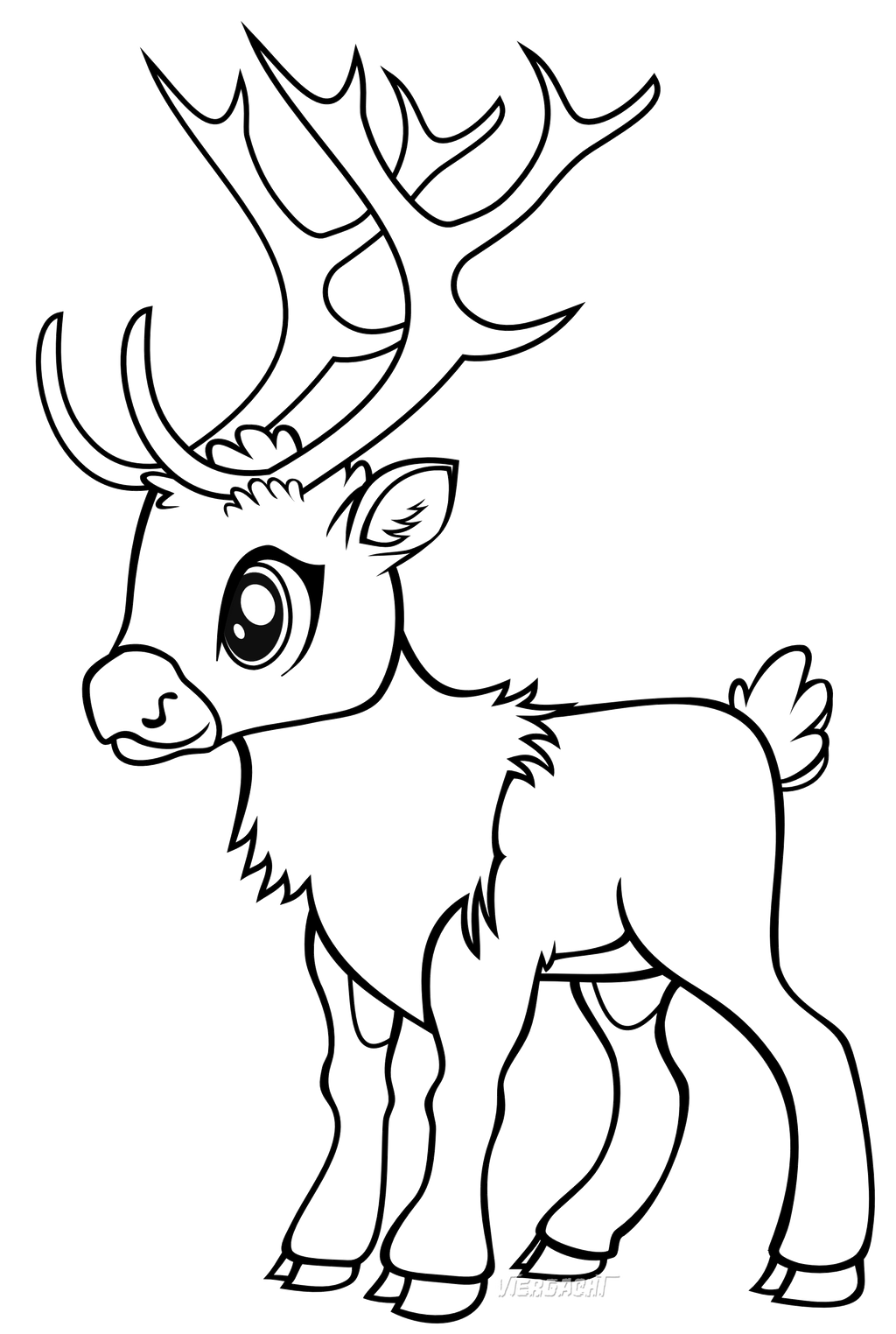 Reindeer Face Line Drawing : Reindeer games line art by viergacht on deviantart