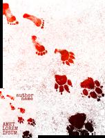 Werewolf Tracks Premade Book Cover by Viergacht