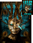 Clockpunk Lobotomy Premade Book Cover