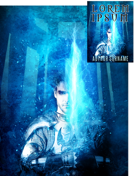 Flaming Sword Premade Book Cover by Viergacht